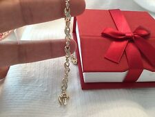 14k solid yellow gold diamond bracelet  size 7  1ct diamonds