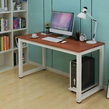 Wood Brown Computer Desk PC Laptop Table Workstation Study Home Office Furniture