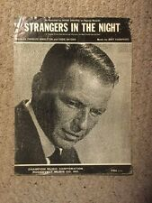 Vintage Sheet Music.  Strangers In The Night.  Slight Wear.  See Pics.
