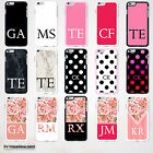 INITIALS PERSONALISED HARD BACK PHONE CASE COVER FOR APPLE IPHONE 4 5 6 6S New