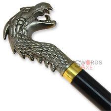 Ancient Dragon Head Walking Cane - Cast Aluminum Top
