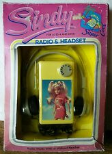 Rare SINDY RADIO & HEADSET Hasbro 1987 - mint sealed in original packaging