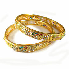 Rabbi Gold Plated 2 Pcs Net Maria Bangle Bracelet Set  (size 2.6)