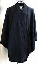 BLOOMINGDALES Black Italy Fine Merino Wool Wrap Shawl Sweater Poncho OS