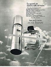 PUBLICITE  1970   JEAN PATOU    lance la ligne LACOSTE  eau de toilette parfum