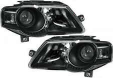 VW Passat B6 2005-2010 black FINISH headlights front lights PAIR SET HELLA