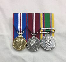 Court Mounted Full Size Queens Golden, Diamond Jubilee & Cadet Forces Medals