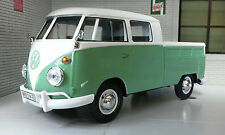 G LGB 1:24 Scale VW T1 Type 2 Double Cab Pickup Green Diecast Model Van 1962