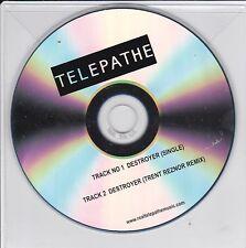 TELEPATHE DESTROYER [TRENT REZNOR REMIX] 2 TRACK PROMO CD