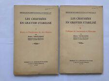 CHAUSSEES EN GRAVIER STABILISE 2 VOL 1936 THUILLEAUX SOLS ROUTIER CONSTRUCTION