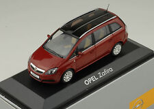 Opel Zafira B 2006 red metallic 1:43 Minichamps Dealer