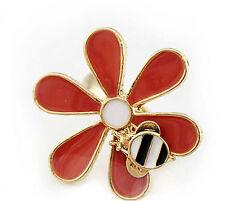 Spesso Art Deco vintage margherita farfalla ape anello con ciondolo
