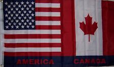 NEW 3ftx5ft USA CANADA U.S. AMERICAN CANADIAN FLAG