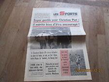 JOURNAL LES SPORTS 297 22/23  decembre 1973 belgique football basket