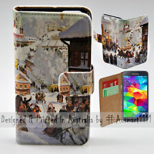 Wallet Phone Case Flip Cover for Samsung Galaxy S5 - Winter Season in Russia