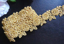 Venise Lace Galloon metallic/gold , 1 inch wide  selling by the yard