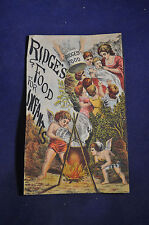 Trade card for Ridge's food for infants and Invalids by Blanc Mange
