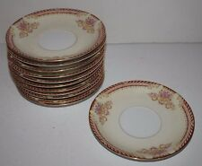 Lot of 12 Noritake Royal Ruby Coffee Cup Saucers Only Occupied Japan Fine China