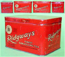Vintage RIDGWAI'S Ltd Tea MERCHANTS Empty Tea Tin Box Englang,London