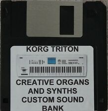 "Korg Triton ""Creative  Organs and Synths""  Custom programmed sound bank"