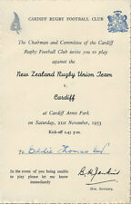 CARDIFF v NEW ZEALAND 21 NOVEMBER 1953 PLAYER'S ARCHIVE EDDIE THOMAS COLLECTION