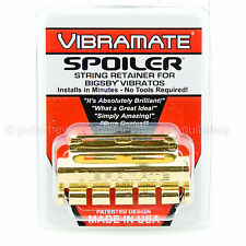BRAND NEW Vibramate Spoiler String Retainer for Bigsby Tremolo SR-1 - GOLD