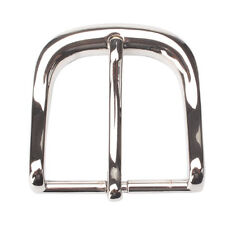 4.0 Chrome-Filled Pin Belt Buckle Western American Fit Leather Belt