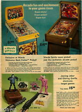 1977 PAPER AD Arcade Pinball Game Kotter Welcome Back Batman Toy Shooting Target