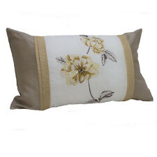 Filled Cushions - Set of 4 - Natural Rosetta Boudoir - 30x50cm - FREE DELIVERY