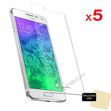 5 Pack CLEAR LCD Screen Protector Cover Guards For Samsung Galaxy Alpha  (G850)