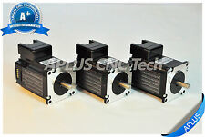 3 PCS NEMA 23 Integrated Stepper Motor, 212oz-in 64mm 3.0A, All in One