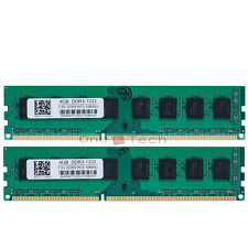 8GB 2x4GB PC3-10600 DDR3 1333Mhz DIMM Desktop Memory For AMD Chipset Motherboard