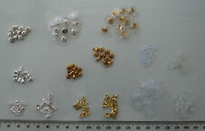 Mixed selection pack, silver & gold plated & plastic backs for pierced earrings