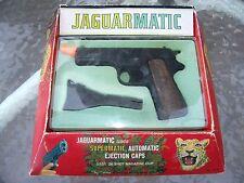 VINTAGE JAGUARMATIC OHIO ART TOY PISTOL CAP GUN with MAGAZINE in ORIGINAL BOX