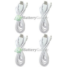 4 White USB 10FT Micro Charger Data Cable for Samsung Galaxy S6/Edge/Core Prime