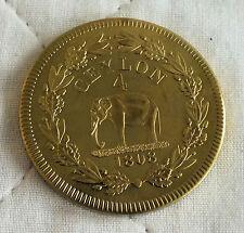 Ceylon Giorgio III 1808 la prova in lega d'oro Modello Crown