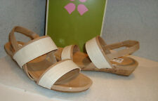 Naturalizer N5 Womens NWB Frazzle White Sand Wedge Sandals Shoes 5.5 MED NEW