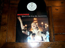 "Madonna - Don't Cry For Me Argentina 1997 12"" Vinyl Single SIX Mixes EX/VG+"