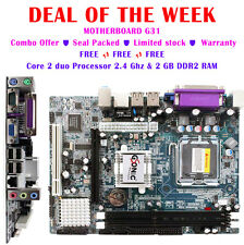 MOTHER BOARD G31/945 ★ CORE 2 DUO PROCESSOR ★ 2GB DDR2 RAM ★ 1 YEAR WARRANTY