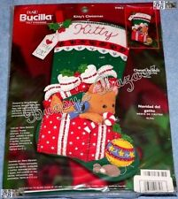Bucilla KITTY'S CHRISTMAS Stocking Felt Applique Kit - 2002 Kitten Cat - 84852