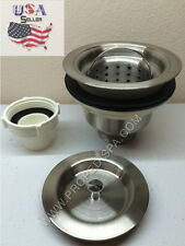 Stainless Steel Shampoo Backwash Unit Bowl Sink Hair Strainer Drain Assembly