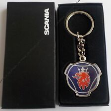 Genuine Scania Truck Griffin Logo Chunky Enamel Metal Key ring Keyring BNIB New
