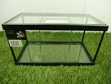 Three-Way 3-Way Live Betta Fish Tank Aquarium w/ Divider and Top Glass Canopy