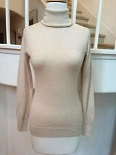 Banana Republic Beige/Oatmeal Silk Lightweight Turtleneck Sweater Sz. S