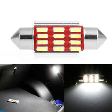2Pcs x 36mm 4014 12SMD C5W LED Light Canbus Festoon Dome Car License Plate Lamp