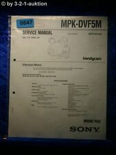 Sony Service Manual MPK DVF5M Marine Pack (#6647)