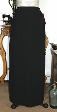 NWT! JS COLLECTIONS BLACK CHIFFON OVERLAY LONG FORMAL SKIRT SZ 6