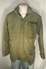 Vintage US Navy Jacket M-65 Military Olive Green So-Sew Inc. MEDIUM w/Liner