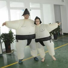 Sumo Sumou Wrestler Cosplay Costume Halloween Outfit Funny Coat Inflatable Suit