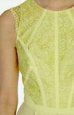 COAST * ROYINA * LACE LEMON YELLOW MAXI DRESS SIZE 10 NEW WITH TAGS